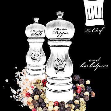 The Chef and his helpers - for dark colors by VILLAGESTORE