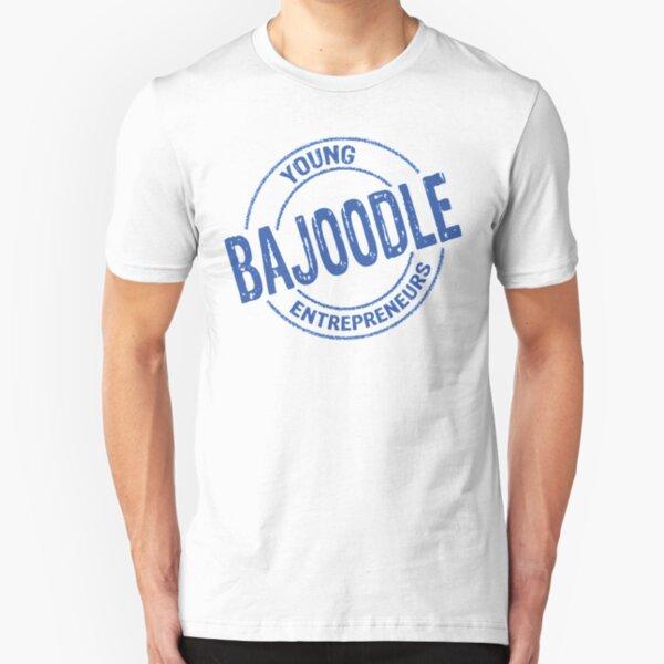 Blue bajoodle logo Slim Fit T-Shirt