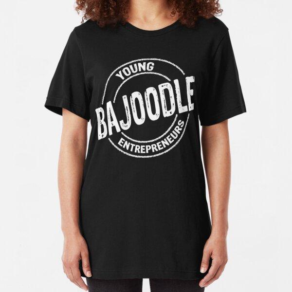 White bajoodle logo Slim Fit T-Shirt