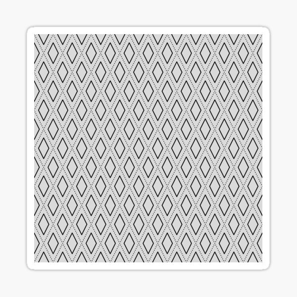 Black and White Abstract Rhombus Seamless Pattern 1 Sticker