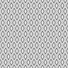 Black and White Abstract Rhombus Seamless Pattern 1 by Arch4Design
