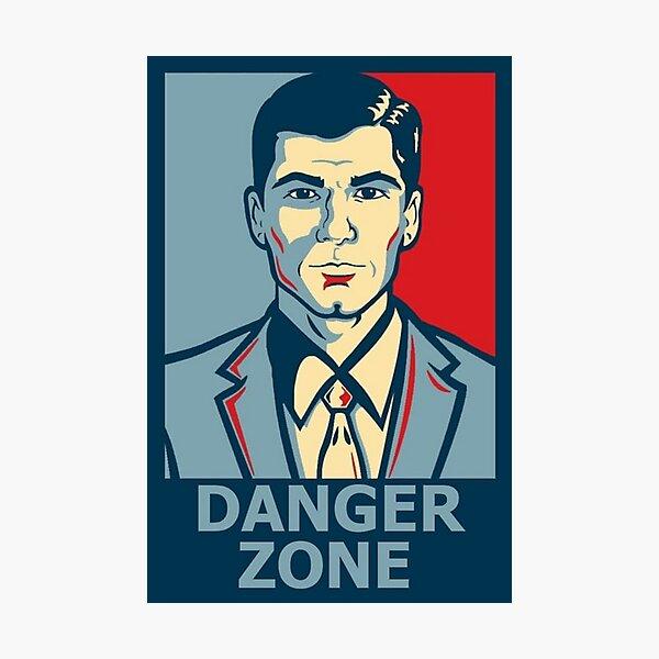 Sterling Archer Danger Zone Shirt Poster Sticker Photographic Print