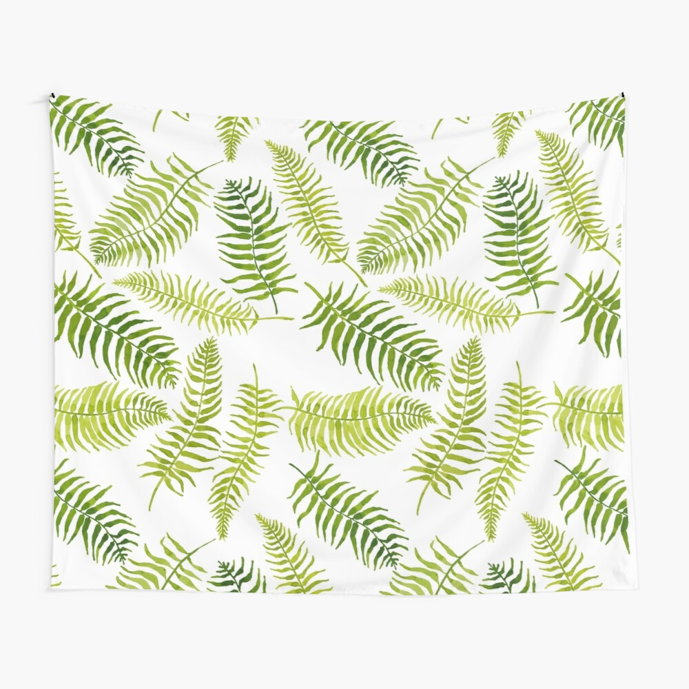 Fern Limelight Wall Tapestry