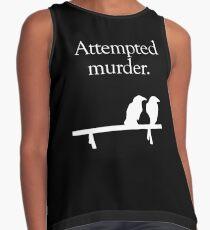 Blusa sin mangas Intento de asesinato (diseño blanco)