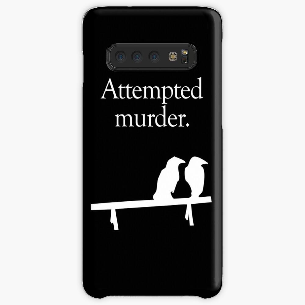 Attempted Murder (White design) Case & Skin for Samsung Galaxy