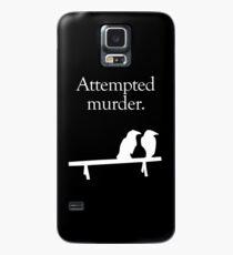 Funda/vinilo para Samsung Galaxy Intento de asesinato (diseño blanco)