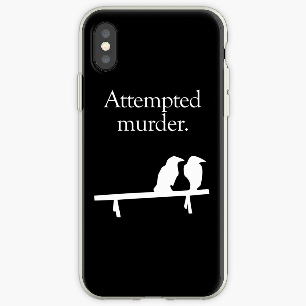 Attempted Murder (White design) iPhone Case & Cover