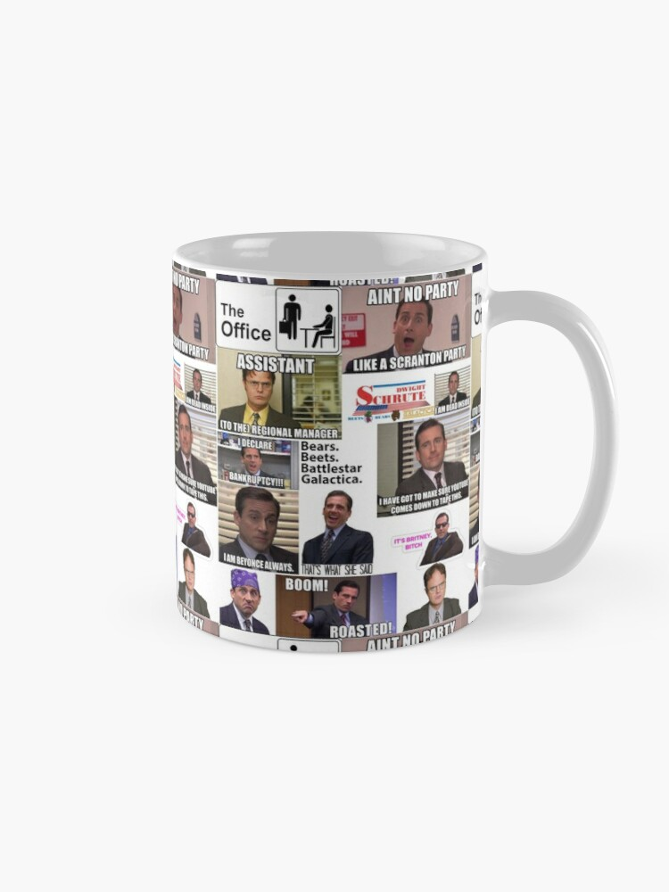 Alternate view of The Office US Montage, Dwighst Schute, Michael Scott, Gifts, Collage Mug