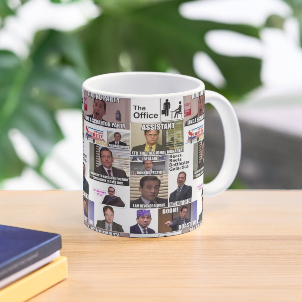 The Office US Montage, Dwighst Schute, Michael Scott, Gifts, Collage Mug