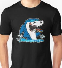Funny Shark Shark Eating Pizza Gift Slim Fit T-Shirt