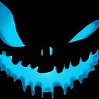 Scary Pumpkin Evil Face Halloween Jack O Lantern by proeinstein