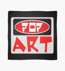 POP ART, FUNNY DANGER STYLE FAKE SAFETY SIGN Scarf