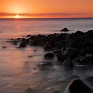 Firth of Thames coast at sunset 2 by Paul Mercer
