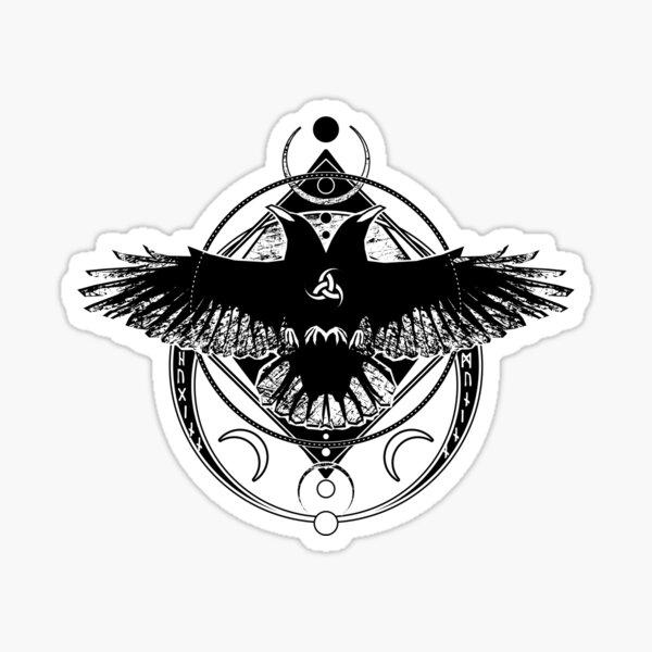 Huginn and Muninn / Hail Odin! Sticker