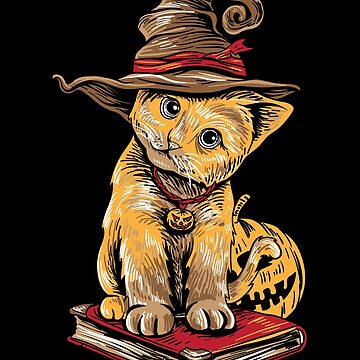 Halloween Kitten Adorable Kitty Cat Lover Shirt by WWB2017