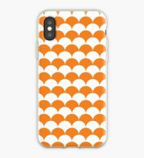 Orange Clamshell Pattern iPhone Case
