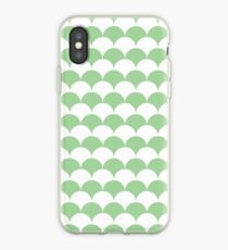 Mint Clamshell Pattern iPhone Case