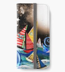 Don't you let it drag you down - Night Sailing - Watercolour Art Moonlight Night  iPhone Wallet/Case/Skin