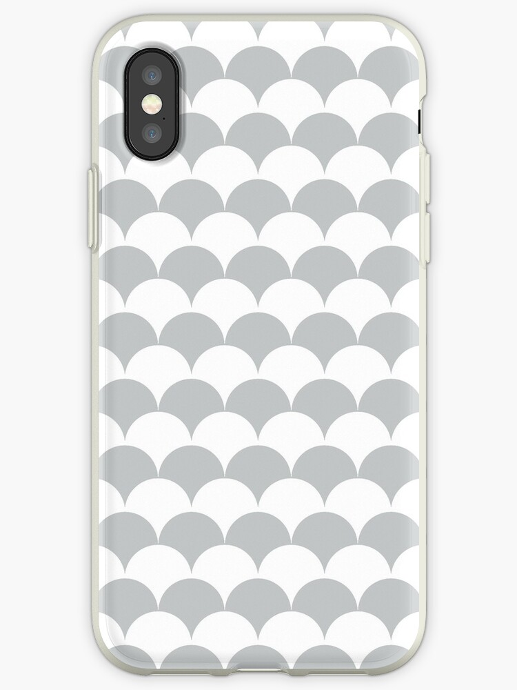 Light Grey Clamshell Pattern by Cool Fun  Awesome Time
