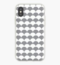 Grey Clamshell Pattern iPhone Case