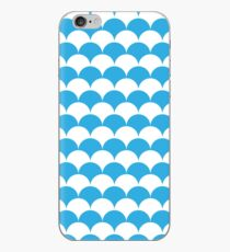 Blue Clamshell Pattern iPhone Case