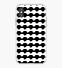 Black Clamshell Pattern iPhone Case