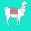 Llama ( Turquoise Version ) by Adam Regester