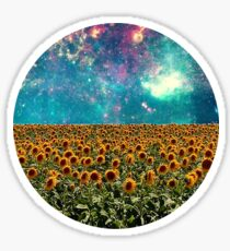 Sunflowers And Space Sticker
