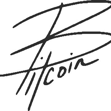 Bitcoin Lettering Art by LicensedCrypto