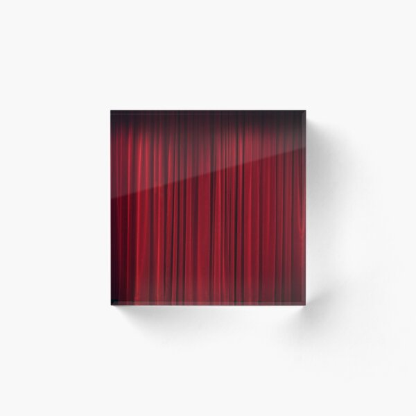 The Red Curtain Acrylic Block