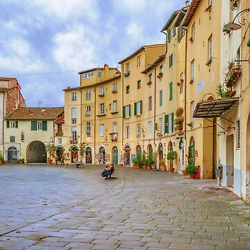 Piazza Anfiteatro, Lucca City, Italy by DFLCreative
