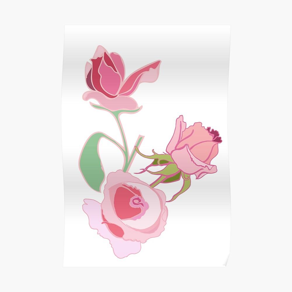 California Rose Garden Poster