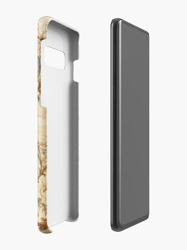 Alternate view of FANTASTIC ANIMALS Medieval Bestiary and Floral Swirls Antique Brown Parchment Case & Skin for Samsung Galaxy