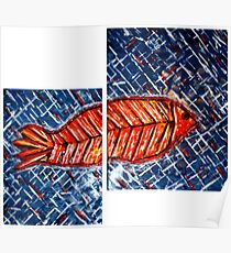 Fish diptych (renamed 'Fish Tych' by Shoaib) Poster