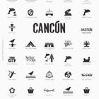 Cancun, Mexico (black ink) by AAAlves