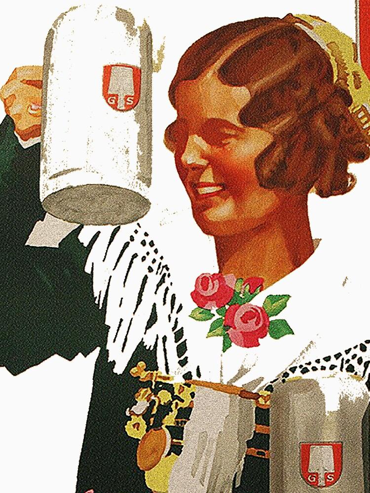 Vintage Spaten Brau Beer, Munich by edsimoneit