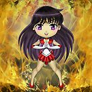 Chibi Sailor Mars by rbrogdenart