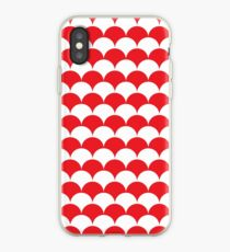 Red Clamshell Pattern iPhone Case