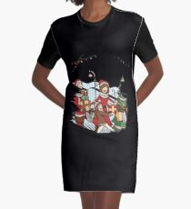 Christmas Scene Graphic T-Shirt Dress