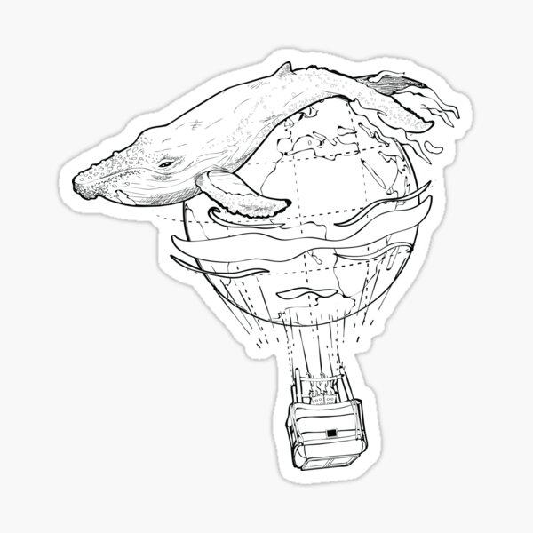 Balloon Whale Sticker