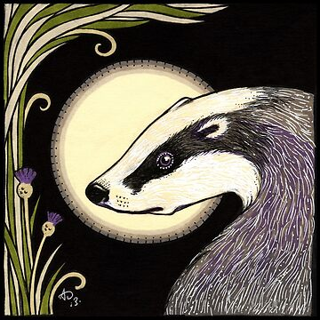 Moon Badger by AnitaInverarity