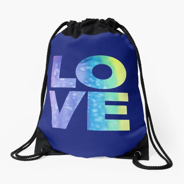 LOVE (Jewel Color Palette) Drawstring Bag