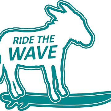 ride the wave surfing donkey by divotomezove