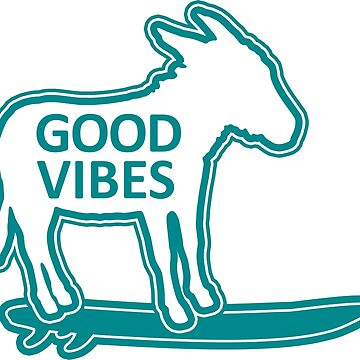 good vibes surfing donkey by divotomezove