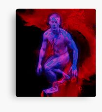 He was formed in the flaming cosmos Canvas Print