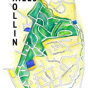Hollin Hills Neighborhood Map by sarahekj