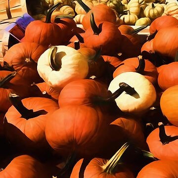 Fall Cart of Pumpkins by bloomingvine