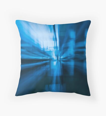 Into the Blue Zone Throw Pillow