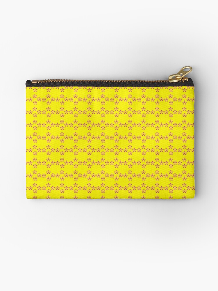 Pentagon Print Yellow Violet by Tony Westbrook