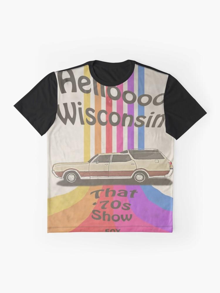 Alternate view of Hello Wisconsin Graphic T-Shirt